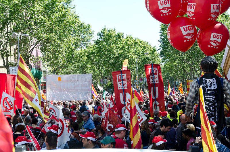 Download May Day Demonstration 2012, Barcelona, Spain Editorial Photography - Image: 24581582