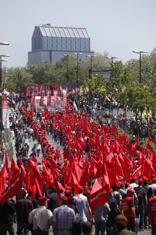 Download May Day in Istanbul editorial stock photo. Image of march - 24603998