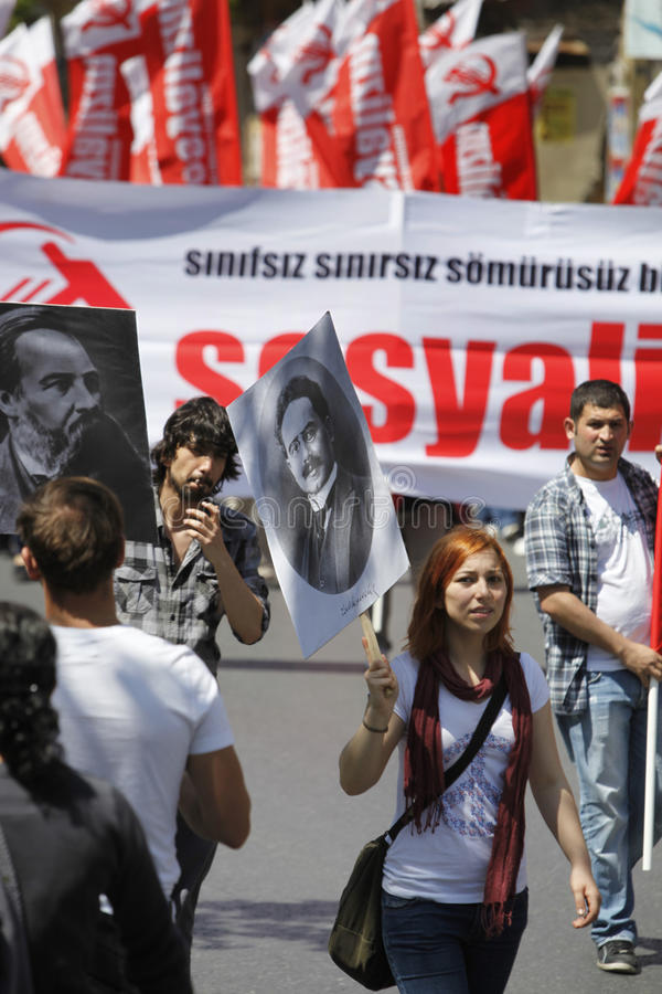 May Day In Istanbul Editorial Stock Photo