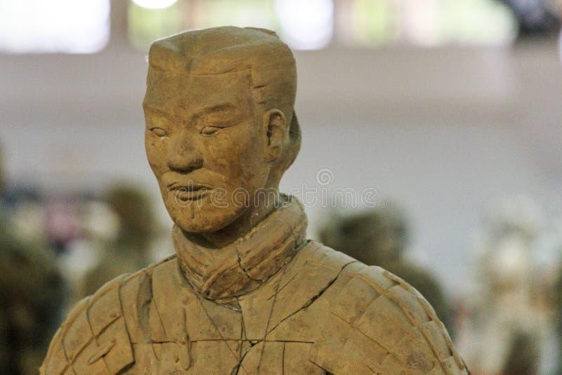 May-07-2017: De terrakottaarmén, krigarna och hästarna porslin xian arkivbilder