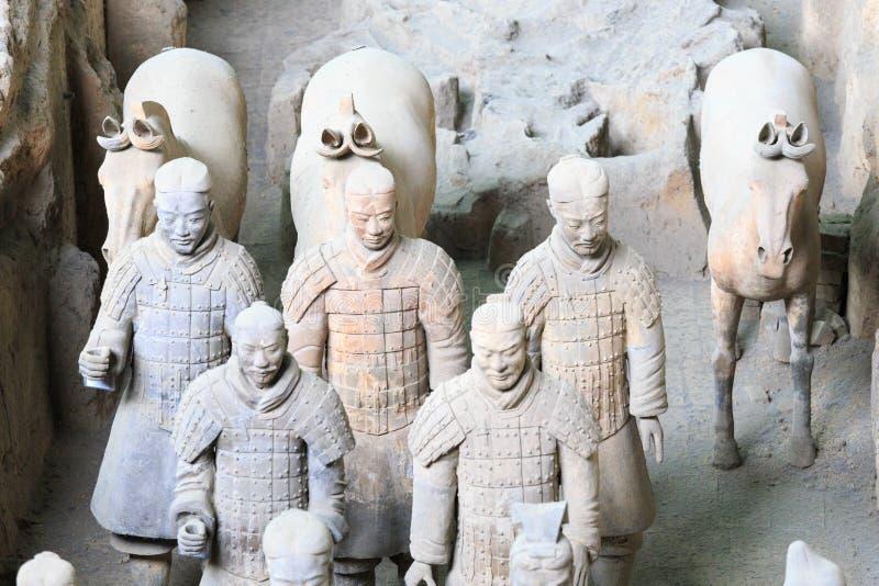 May-07-2017: De terrakottaarmén, krigarna och hästarna porslin xian royaltyfria foton
