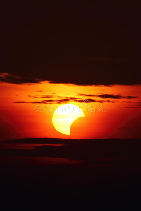 10 May 2013 Eclipse stock image