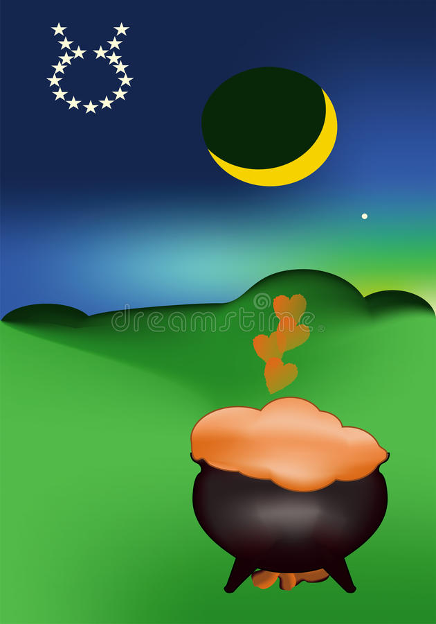 Download May Evening And Love Potion Stock Illustration - Image: 25193359