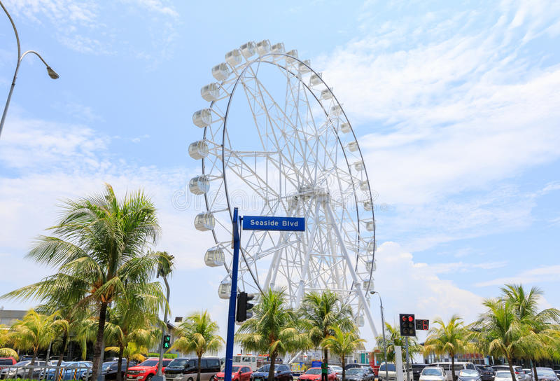 May 31, 2017 Ferris wheel at Mall of Asia in Manila. The ferris stock photos