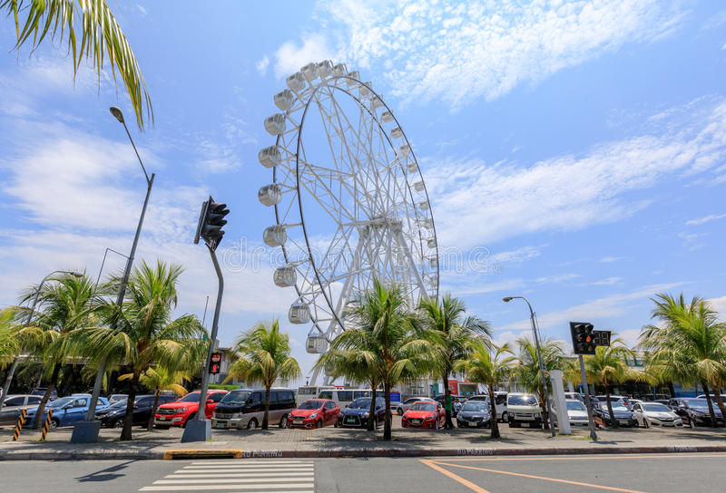 May 31, 2017 Ferris wheel at Mall of Asia in Manila. The ferris royalty free stock photos