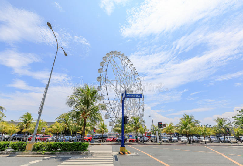 May 31, 2017 Ferris wheel at Mall of Asia in Manila. The ferris royalty free stock photography
