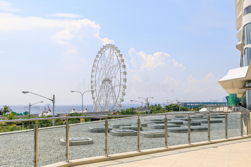 May 31, 2017 Ferris wheel at Mall of Asia in Manila. The ferris stock image
