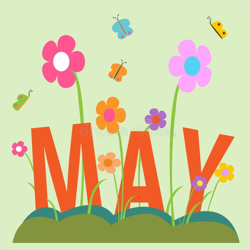 May in the garden royalty free stock photo