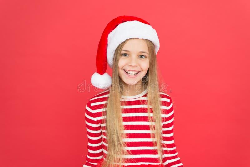 May holidays bring your joy. Happy little Santa red background. Happy holidays. Christmas holidays 2019. Merry xmas stock photography