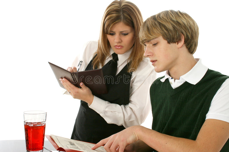 Download May I Take Your Order stock image. Image of dine, teenage - 1761923