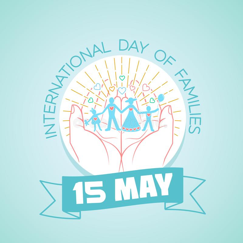 15 may  International Day of Families stock illustration