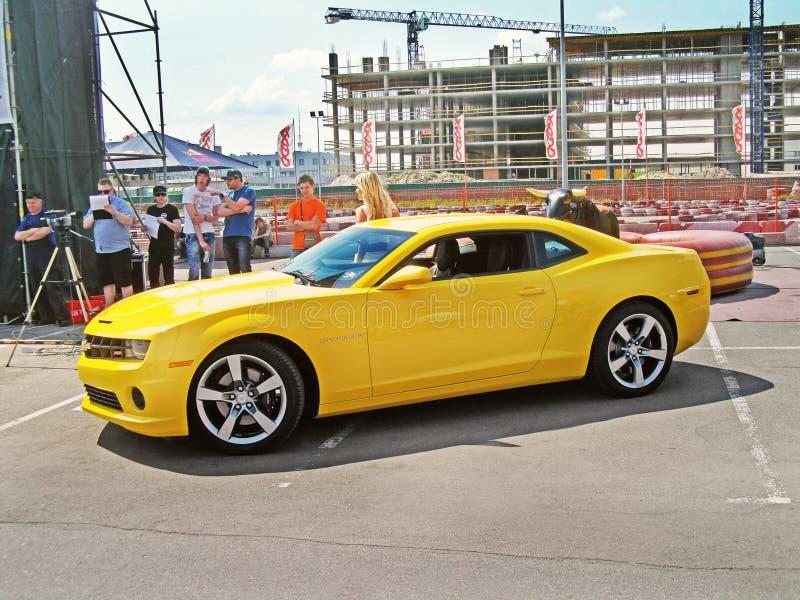 May 21, 2011, KIEV - Ukraine. Chevrolet Camaro SS in the city. May 21, 2011. Chevrolet Camaro SS in the city stock photo