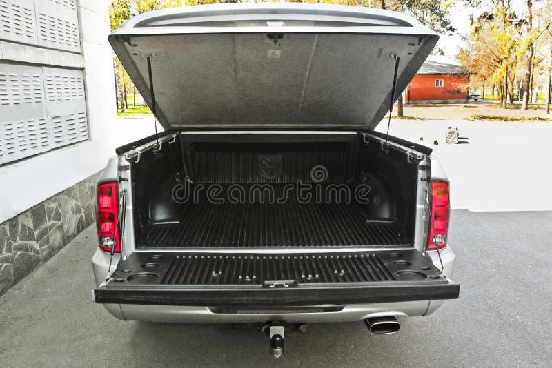 May 7, 2016, Kiev, Ukraine; Dodge Ram SRT-10 with an open trunk. stock photo