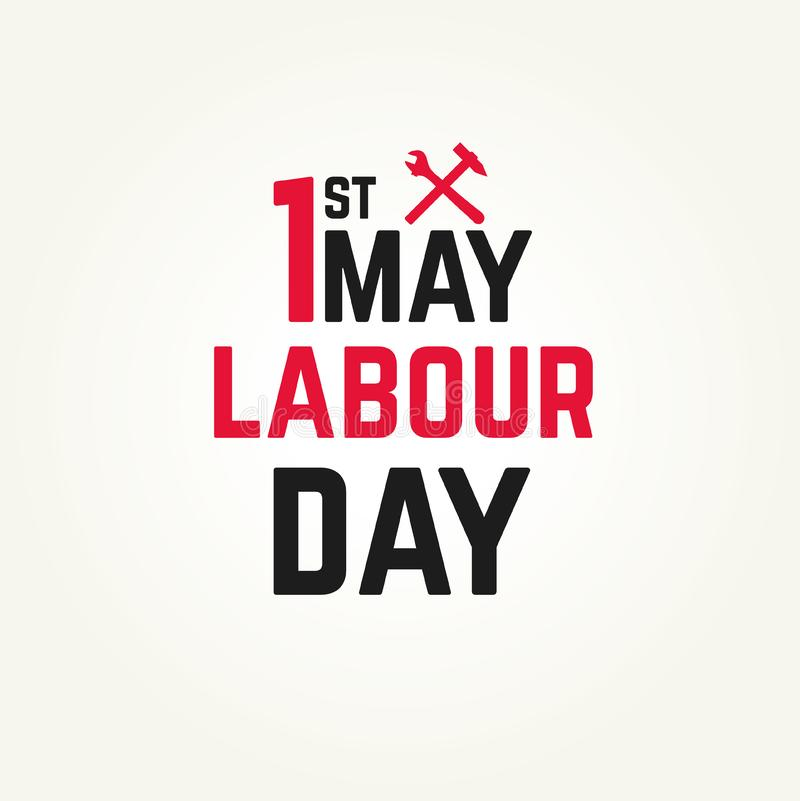1 may - labour day vector illustration