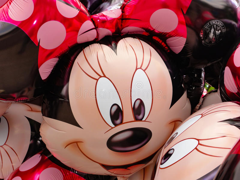 Minnie Mouse Balloons Disney stock images