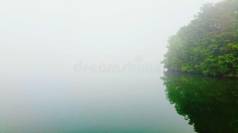 May 25, 2019 morning mist 6:54AM royalty free stock photos