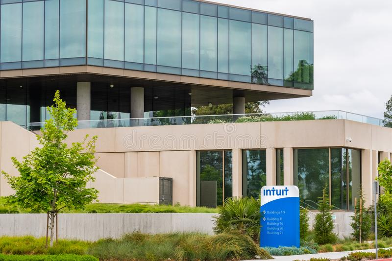 May 9, 2019 Mountain View / CA / USA - The offices of Intuit Incorporated, a company that develops and sells financial, accounting stock images