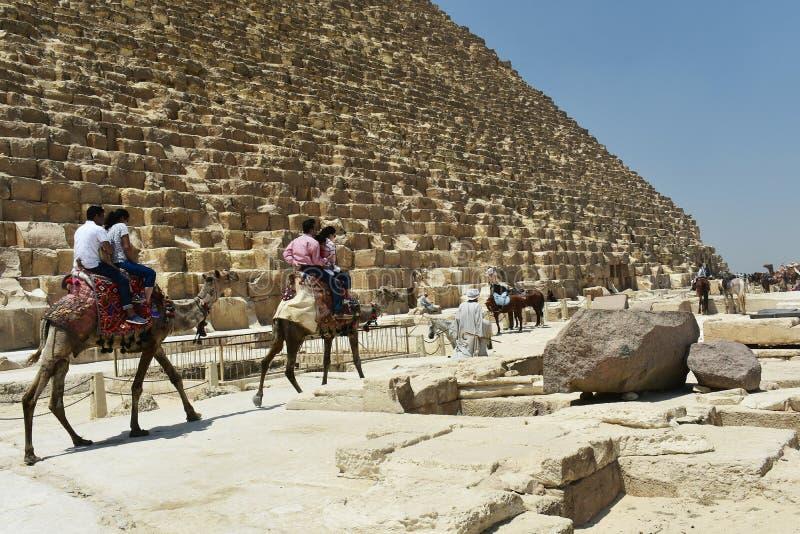 May, 6, 2019. The Pyramids of Giza, Cairo, Egypt. royalty free stock photography