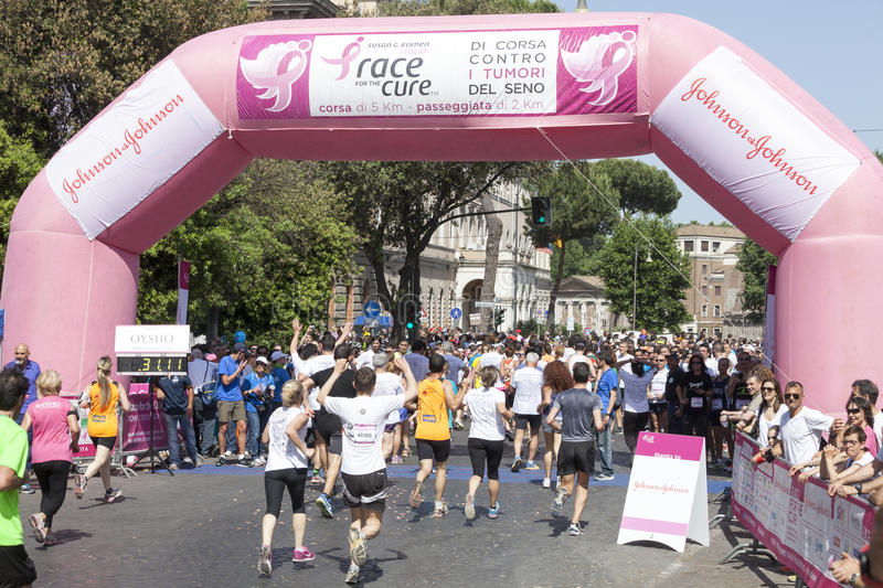 May 17, 2015. Race for the cure, Rome. Italy. Race against breast cancer. stock photography