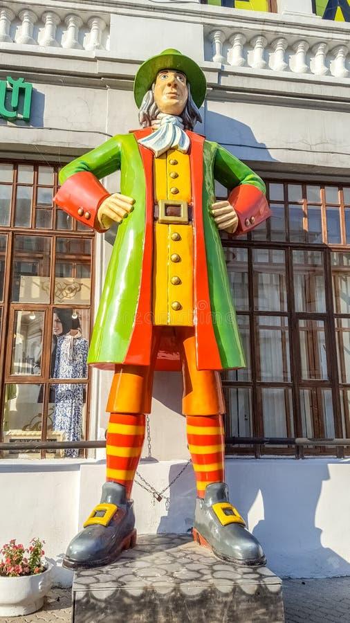 May 2019, Russian Federation, Kazan, Bauman Street. Figure of a fabulous character stock photography