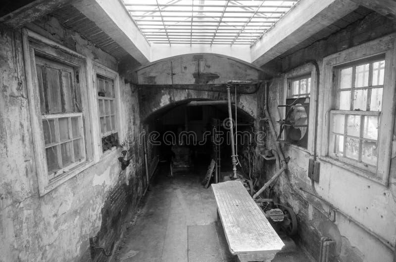 Interior view of Alcatraz Island Prison in San Francisco California royalty free stock image