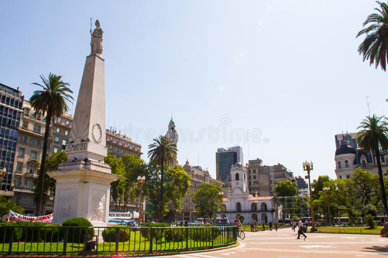 May Square Buenos Aires. BUENOS AIRES, ARGENTINA - CIRCA DECEMBER 2014: Plaza de Mayo, on December 2014, Buenos Aires, Argentina royalty free stock photography