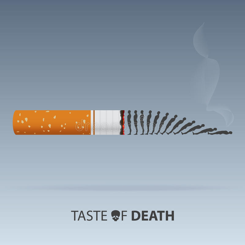May 31st World No Tobacco Day. Poison of cigarette. Vector. royalty free illustration