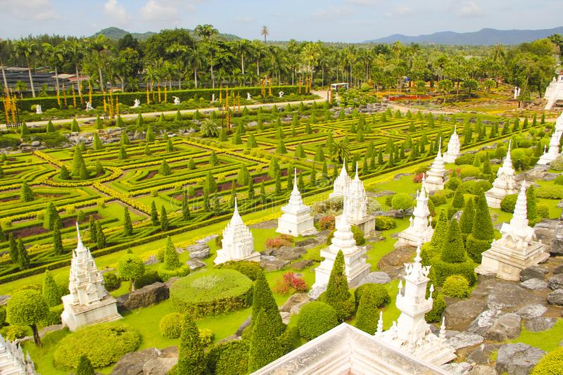 May 6, 2011, Thailand Pattaya visit Tropical Park Nong Nooch, beautiful garden colorful outdoor pretty history tourism stock image