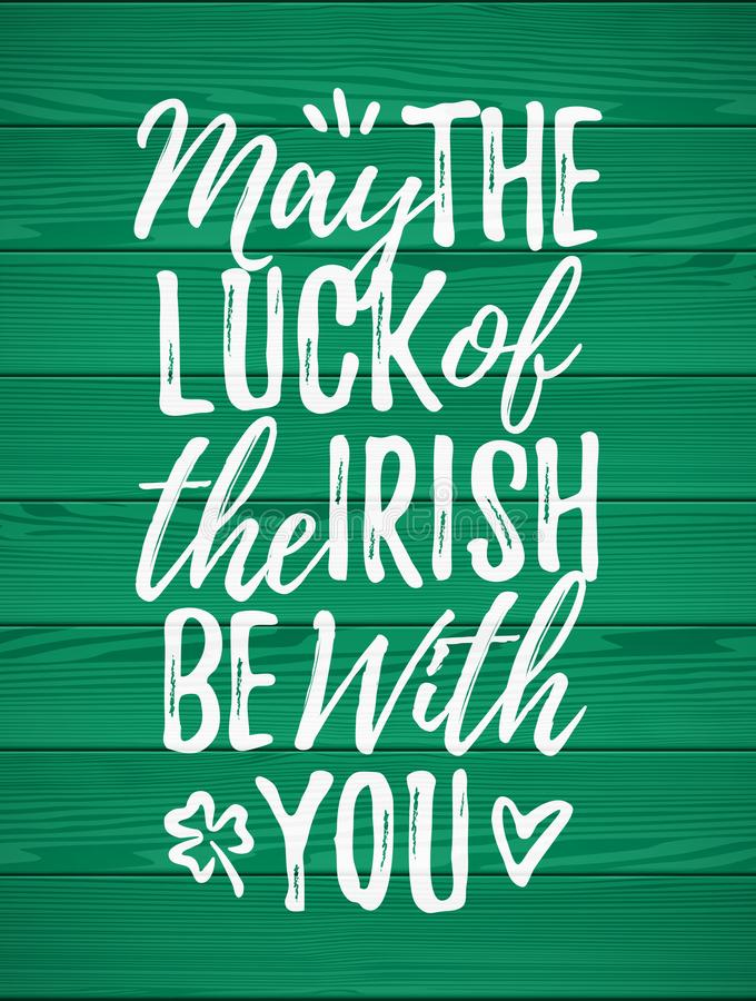 Free May The Luck Of The Irish Be With You Stock Photo - 109688870