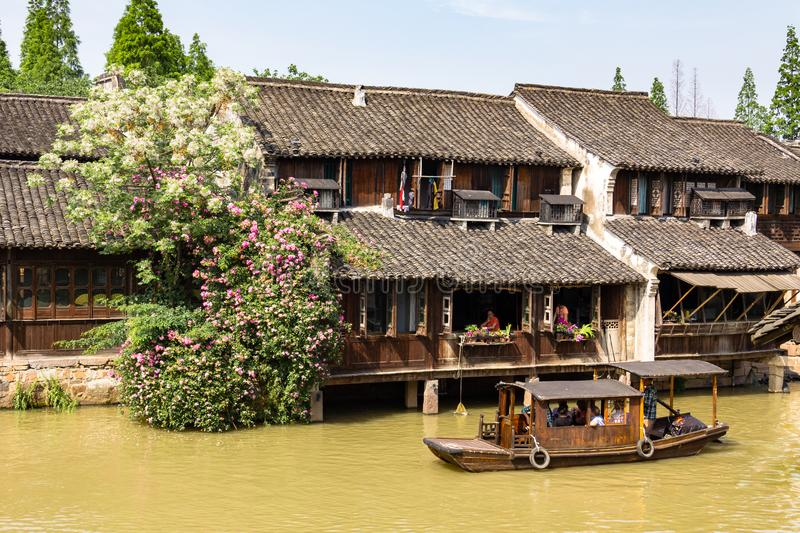 May 2013 - Wuzhen, China - Wuzhen is one of the most famous water villages of China. May 2013 - Wuzhen, China - Wuzhen is one of the most famous water villages stock image