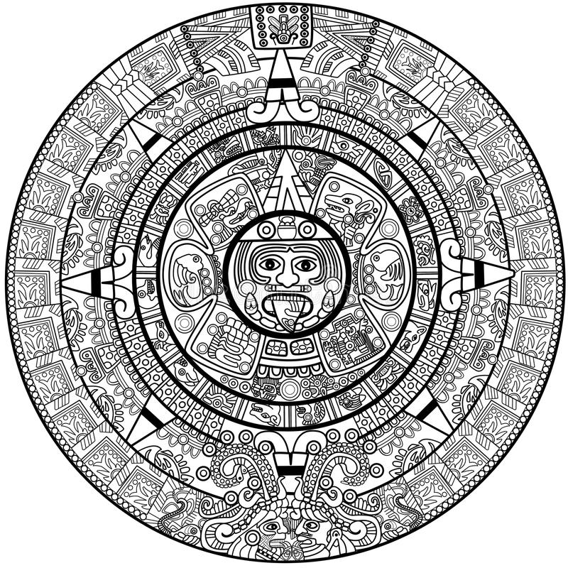 maya календара бесплатная иллюстрация