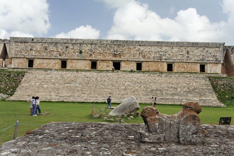 maya Мексика gobernador del Кас губит uxmal стоковые фото