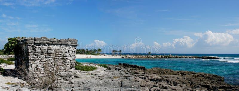 maya Мексика riviera пляжа стоковые изображения rf