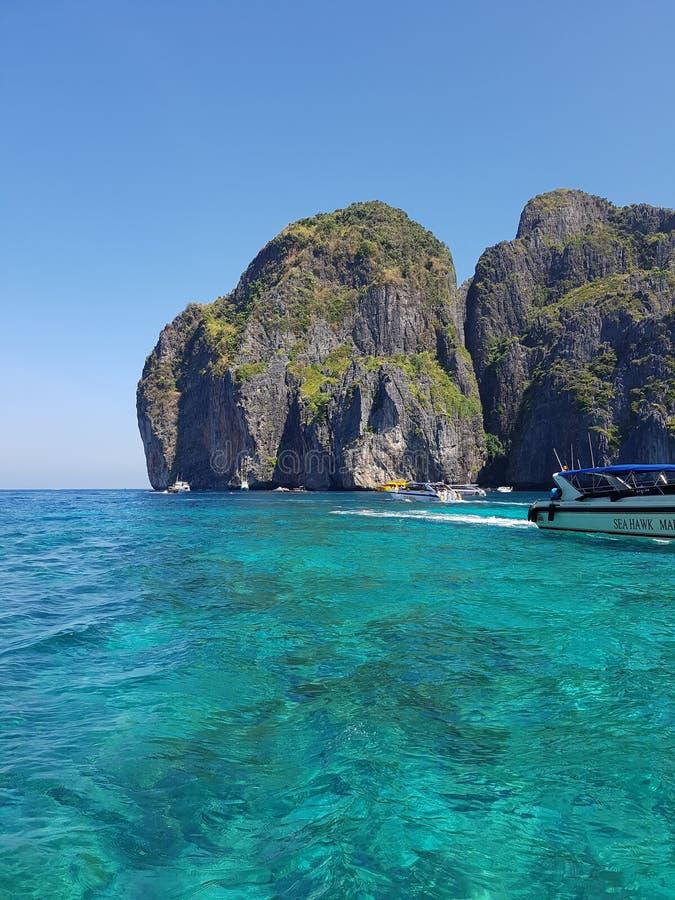 maya Таиланд пляжа залива стоковые фотографии rf