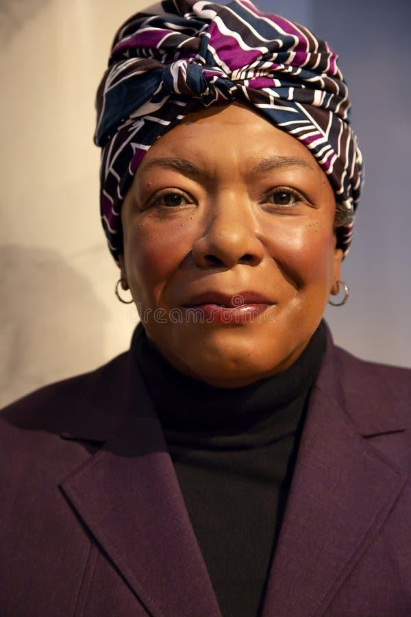 Maya Angelou in Madame Tussauds von New York stockfotografie