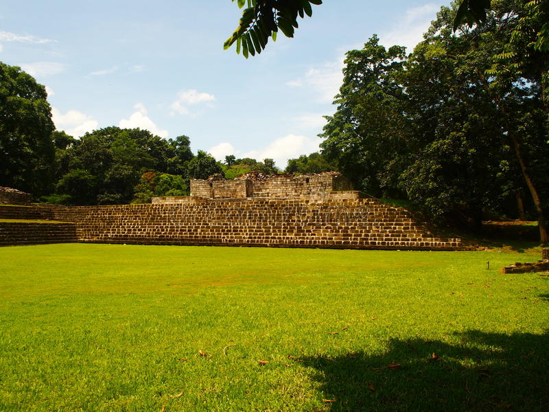 Maya archaeological site Quirigua royalty free stock images