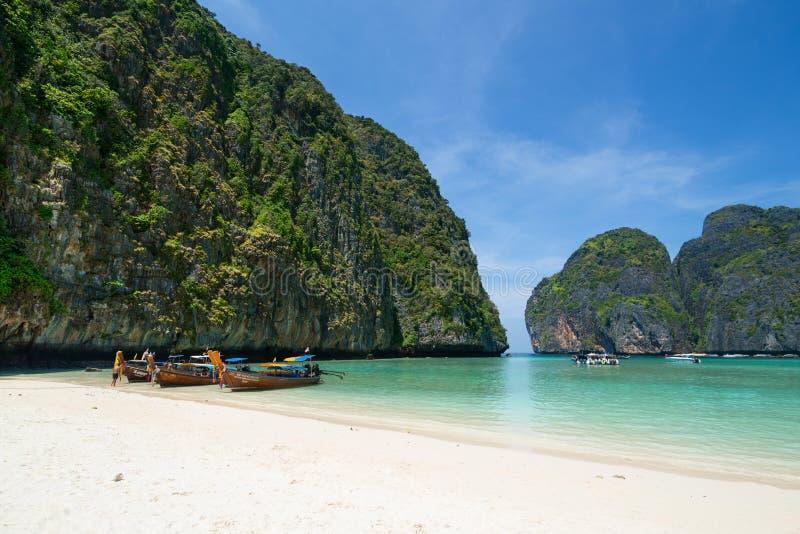 Maya Bay Beach Tropical Beach Phi Phi Islands Thailand fotografia royalty free