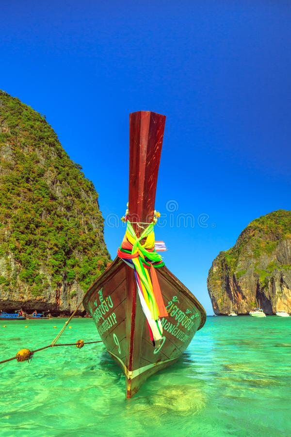 Longtail boat Phi Phi stock image