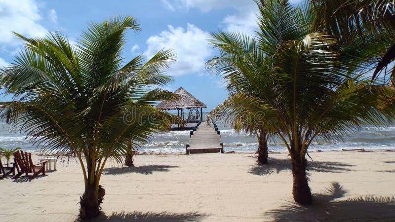 Maya Beach Belize Central America arkivfoto