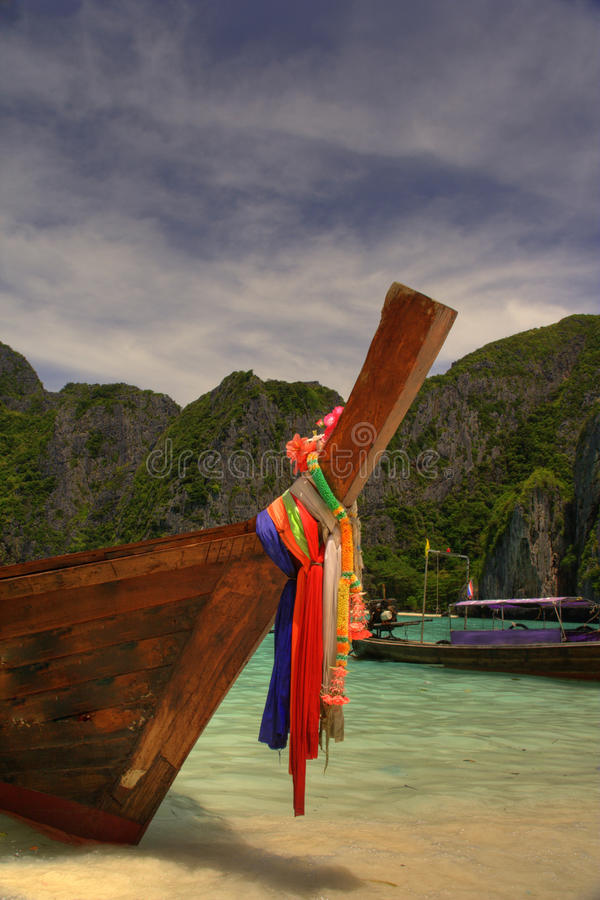 Maya beach Thailand stock photos