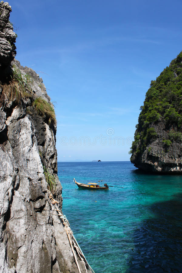 Maya beach thailand. Maya beach island Thailand phi phi royalty free stock image