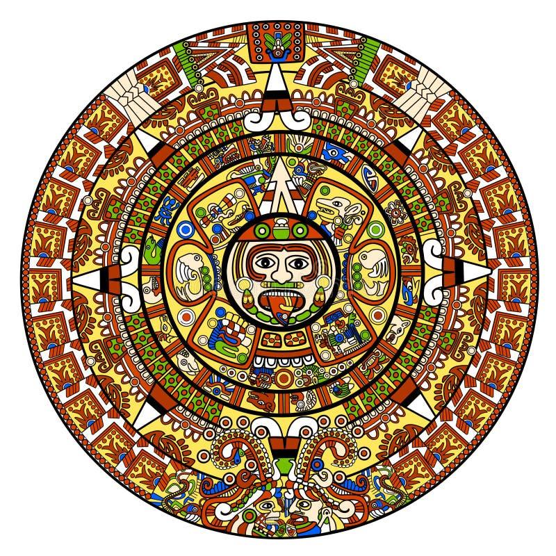 Maya calendar. Illustration - over white royalty free illustration