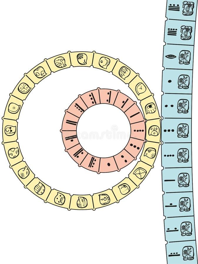 Maya Calendar 2D ilustração stock
