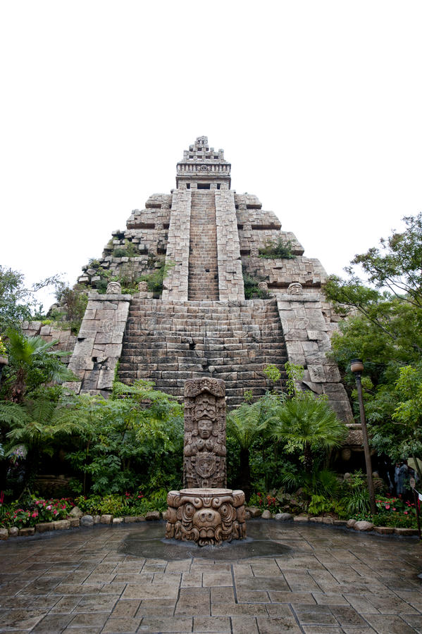 Maya civilization building. The Maya civilization building used for worship stock image