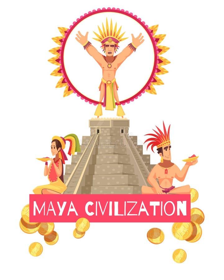 Maya Civilization Illustration vector illustration