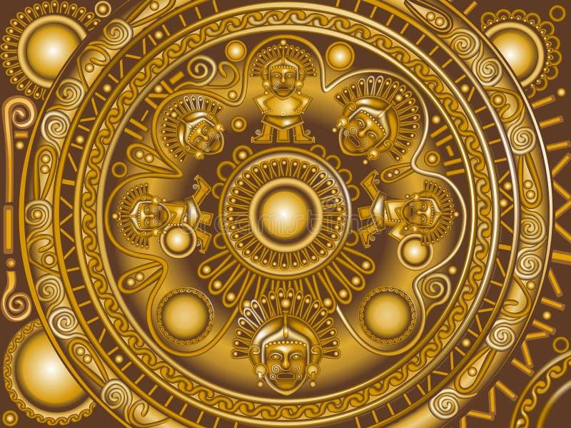 Maya de bronze do ornamento ilustração royalty free