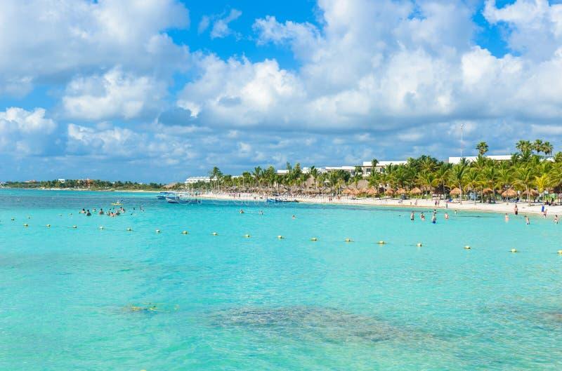 Maya de la Riviera - plage Akumal de paradis chez Cancun, Quintana Roo, Mexique - c?te des Cara?bes - destination tropicale pour  photographie stock