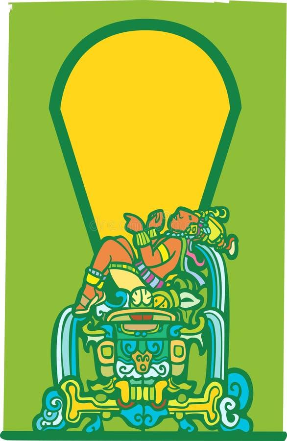 Maya de reclinação 2 ilustração stock