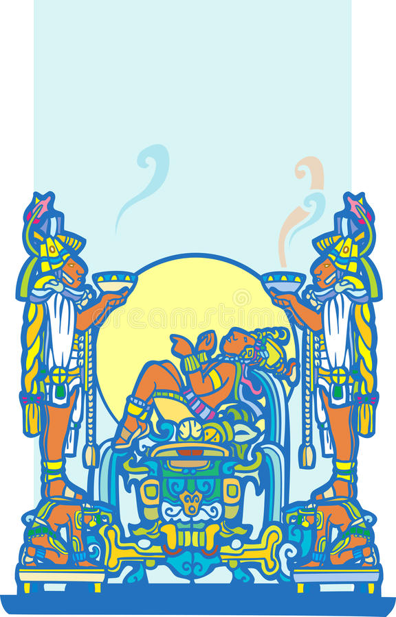Maya de reclinação 4 ilustração royalty free