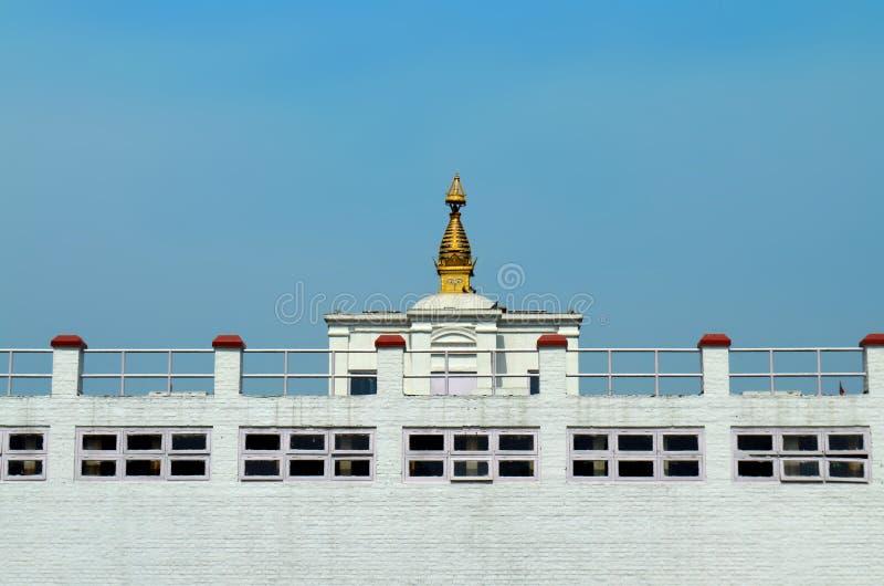 Maya Devi Temple - birthplace of Buddha Siddhartha Gautama. Lumbini, Nepal. Close up royalty free stock photography